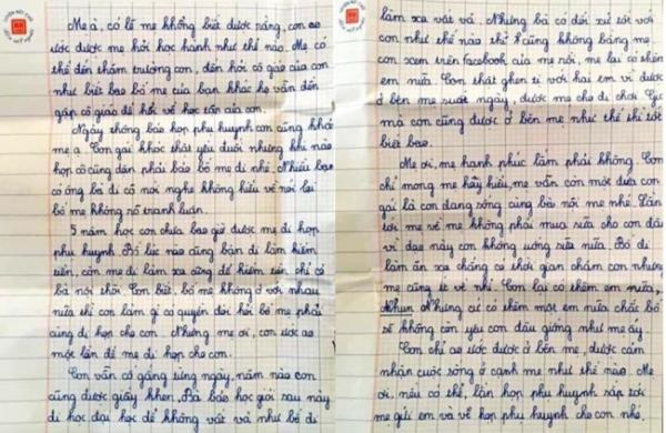 Chân dung gia cảnh của bé gái lớp 5 viết bức thư đẫm lệ ước ao một lần được mẹ đi họp phụ huynh