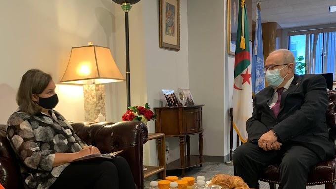 La Subsecretaria de Estado de los EE.UU y el canciller argelino discuten sobre el Sáhara Occidental.
