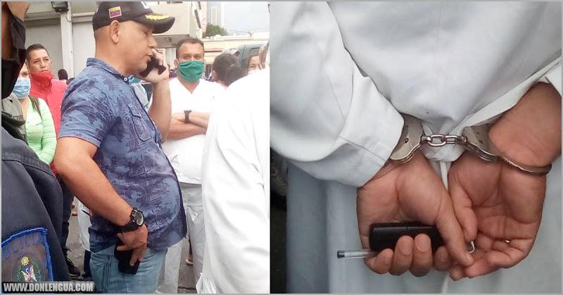 Policía detiene a un médico de Lara por no atender a un cadáver uniformado
