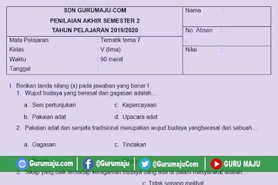 Soal PAT / UKK Kelas 5 Tema 7 Kurikulum 2013 Semester 2