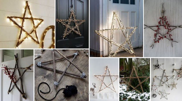 DIY Αστέρια από Κλαδιά ή Θαλασσόξυλα