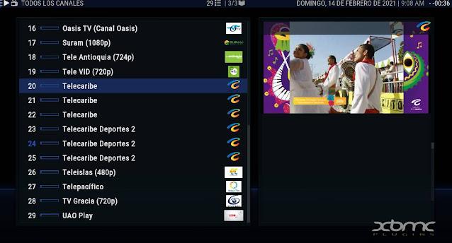 canales de colombia gratuitos iptv