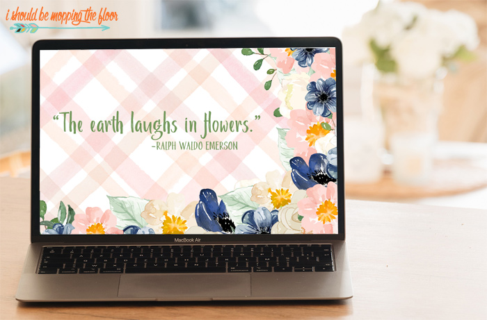 The World Laughs in Flowers quote