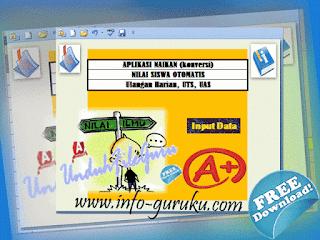 Aplikasi Konversi Nilai Siswa SD,SMP,SMA Otomatis