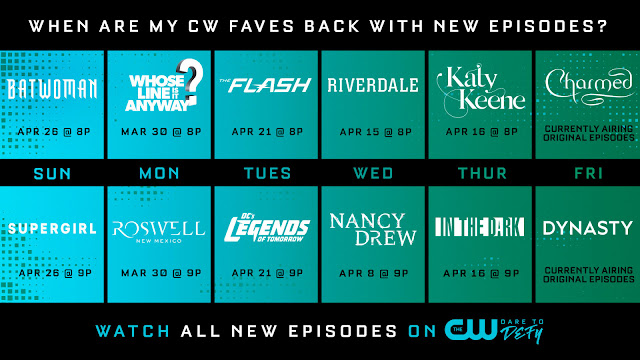 When are my cw faves back with new episodes?