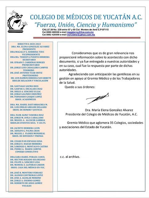 ¿Qué esperan para vacunarnos?: Colegio de Médicos de Yucatán AC