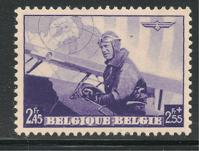 Belgium King Leopold III in Military Plane