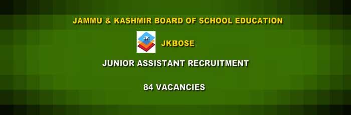 Jammu 84 Posts JKBOSE Junior Assistant Recruitment 2019 @ www.jkbose.ac.in