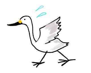 アンデルセン 白鳥のイラスト /組立通信