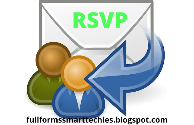 rsvp meaning in text