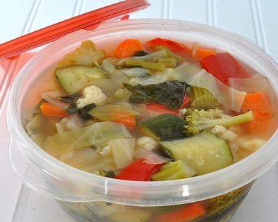 Weight Watchers Fresh Vegetable Soup, another healthy vegetable soup recipe ♥ AVeggieVenture.com