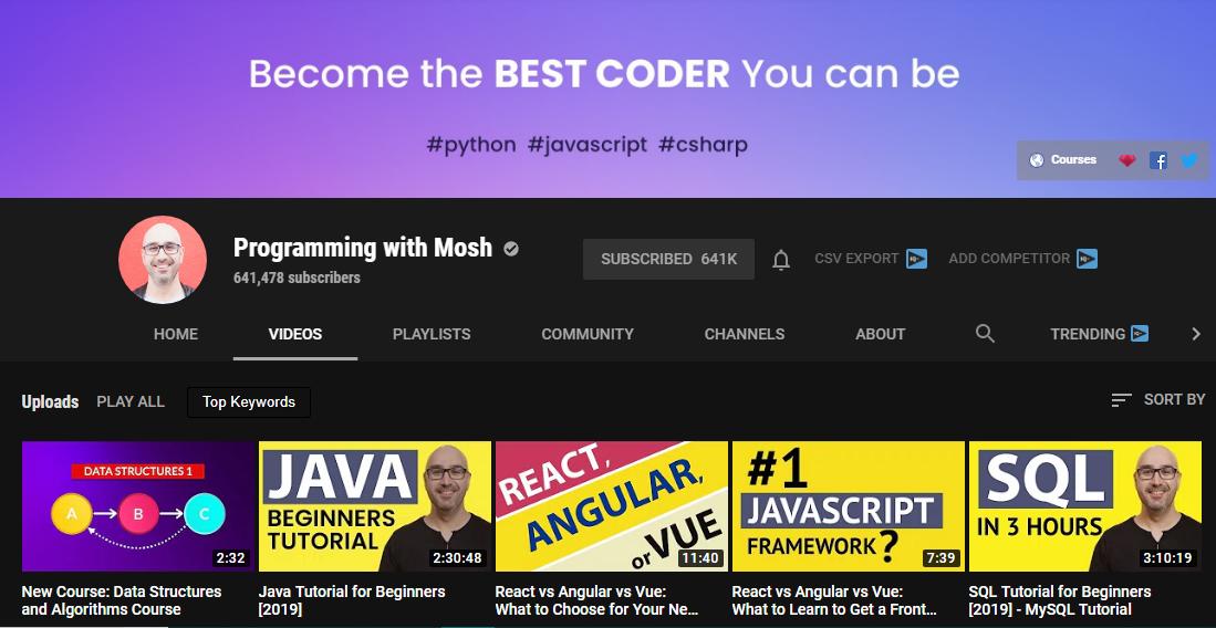 أفضل 7 قنوات على اليوتيوب لتعلم البرمجة لسنة 2019