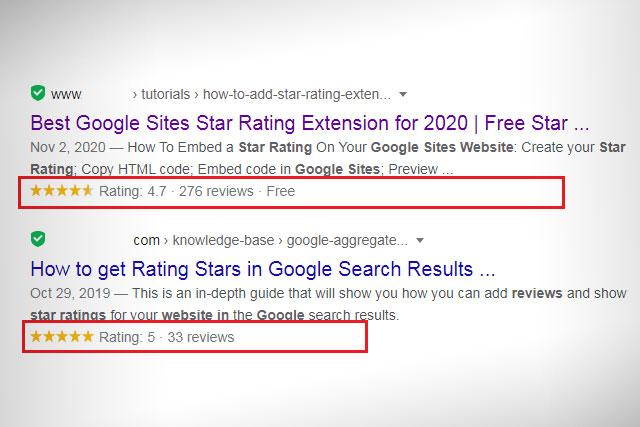 إظهار تقييم النجوم أسفل مواضيع مدونتك في نتائج البحث جوجل
