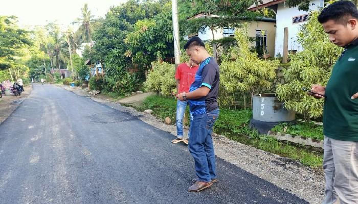 Dewan Soroti Pengerjaan Jalan di Dusun Dompili, Diduga Dikerja Asal-asalan
