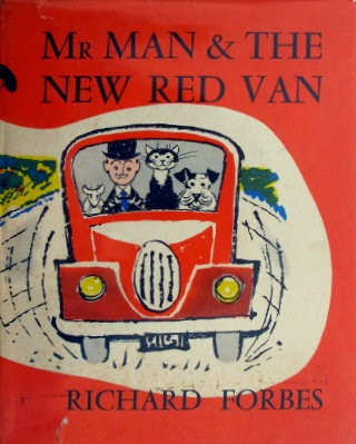 Mr Man & the new red van hardback vintage book