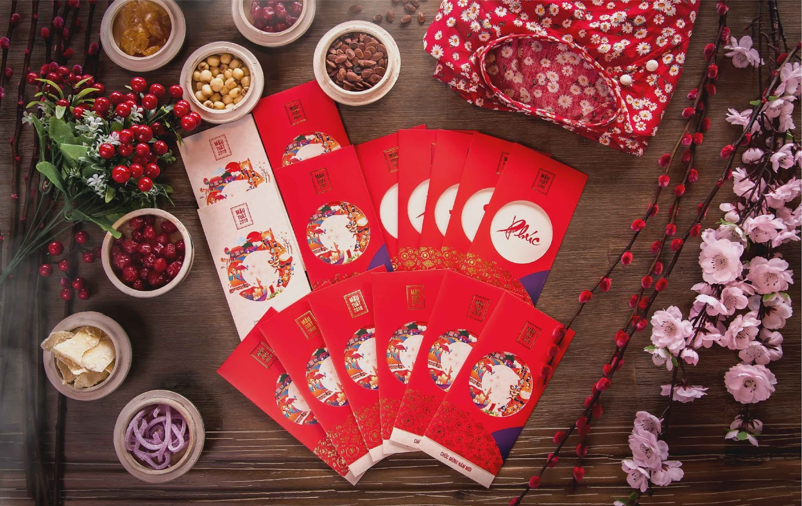 Tet _ A circle tradition of Vietnamese culture on Packaging of the