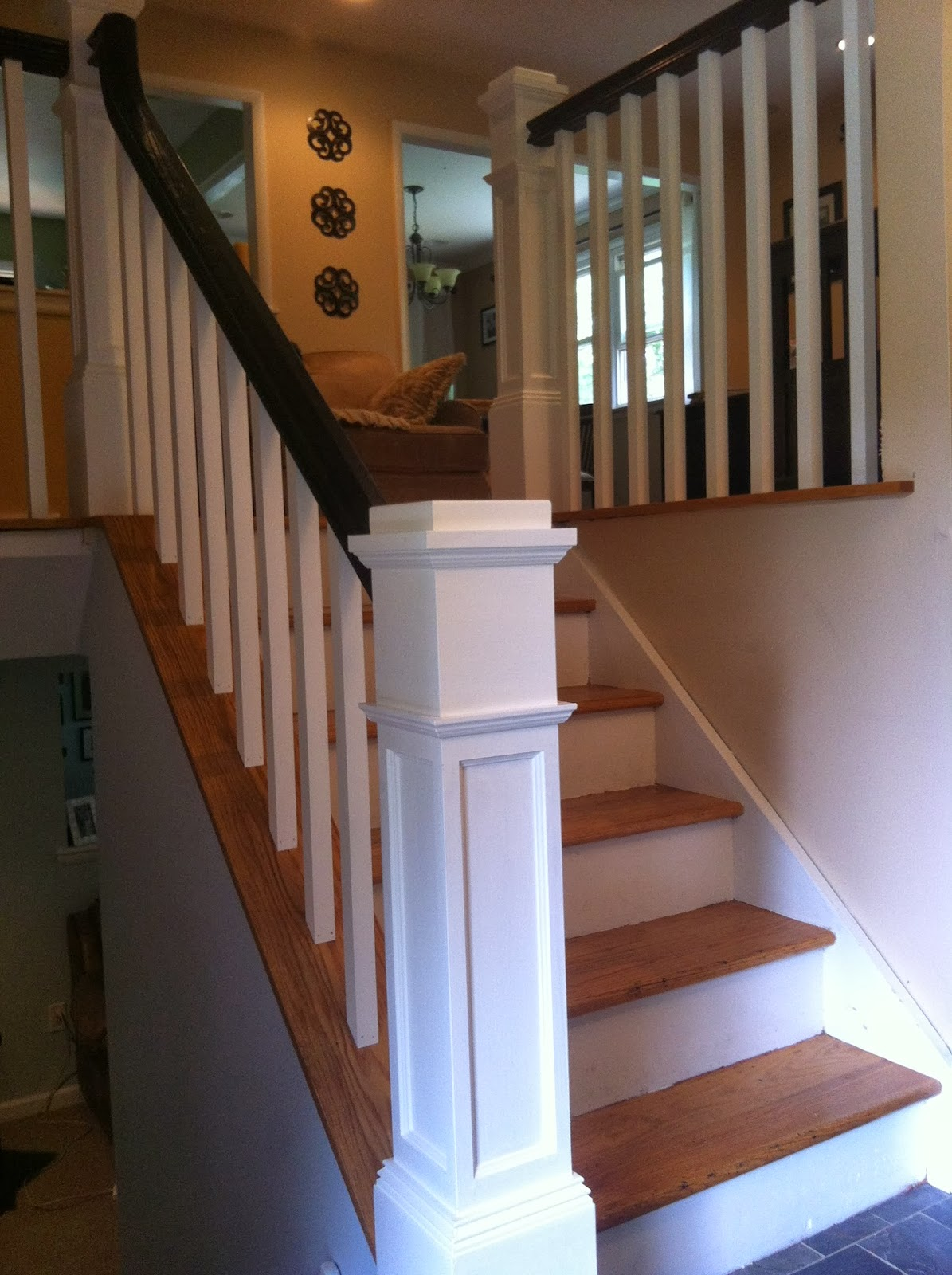 Foyer Stairs Quote : Split foyer stair railing