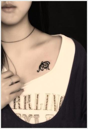 Bonita e elegante tatuagens para meninas no peito - melhor tatuagem ideias de menina