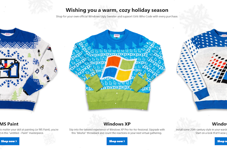 Microsoft Reveals The Most Beautiful Ugly Sweaters