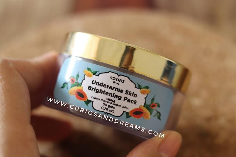 Tijori Underarm Skin Brightening Pack, Tijori face pack review