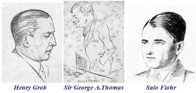 Henry Grob, Sir George A. Thomas y Salo Flohr