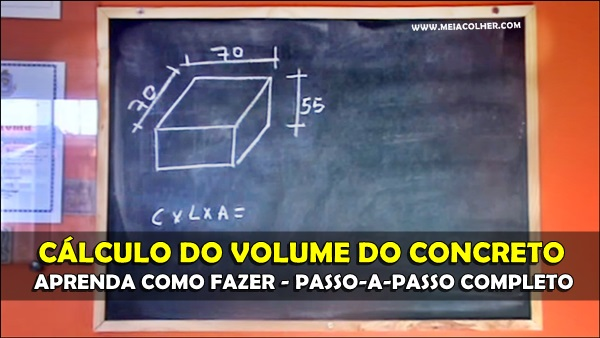 calculo do volume de concreto