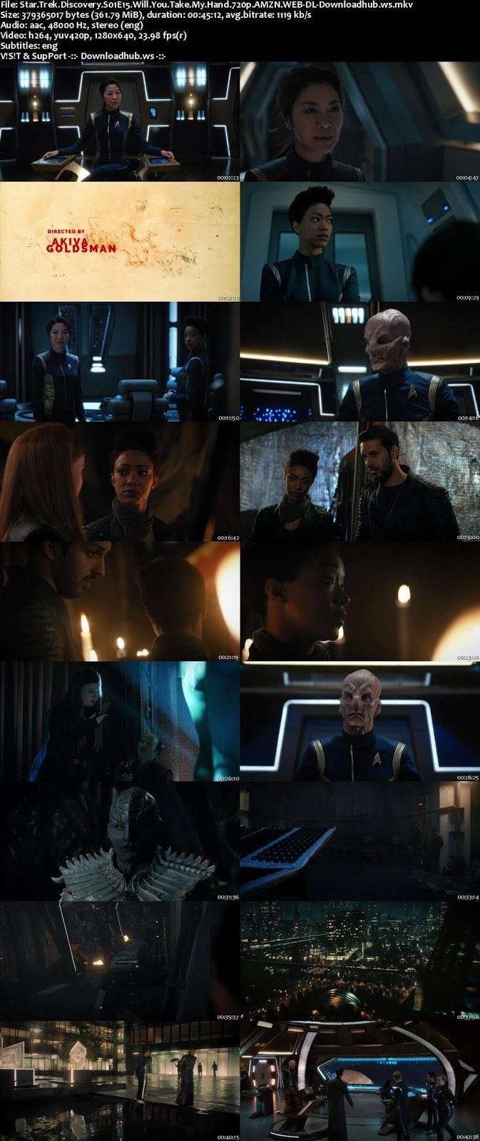 Star Trek: Discovery S01E15 350MB Web-DL 720p ESubs