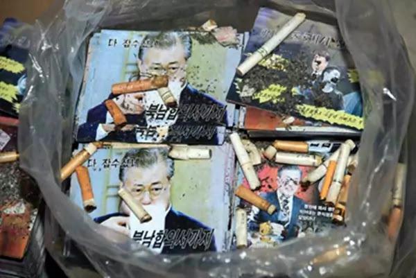 Fag-ends on leaflets