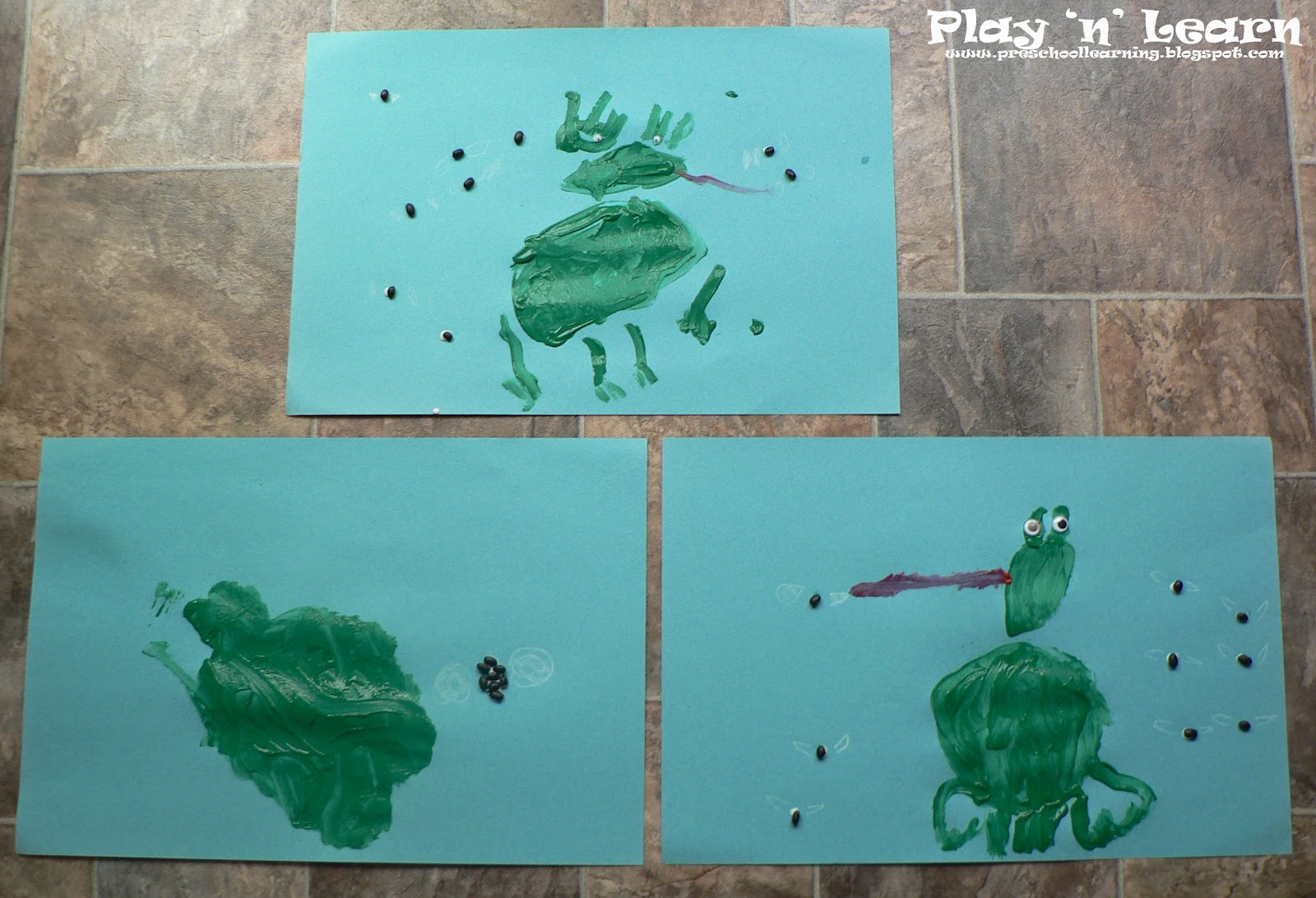 Play N Learn 5 Green And Speckled Frogs