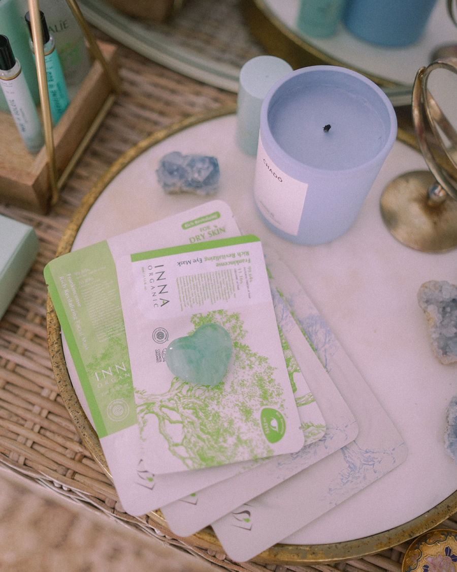 inna organic glow from within organic sheet masks clean beauty
