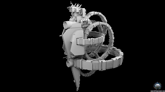 mobile space station rotating ring gravity habitat mothership peacekeeper diplomatic free 3d model download