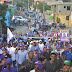 PLD-PRD realizan marcha en Pueblo Nuevo recibiendo contundente apoyo de sus moradores
