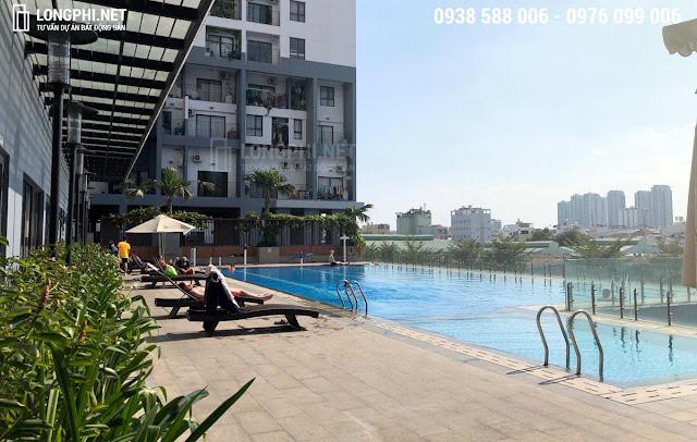 Hồ bơi tại dự án căn hộ m-one cho thuê.
