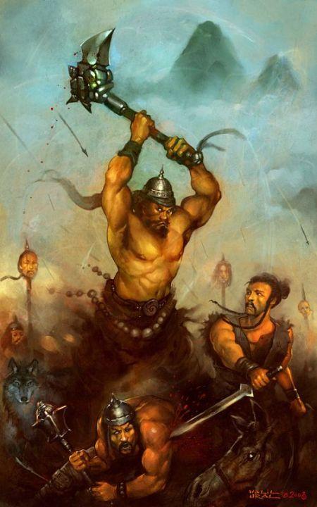 Halil Ural mrdream deviantart ilustrações fantasia arte conceitual Ataque de bandidos