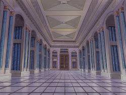 anime background castle indoor landscape animebackground