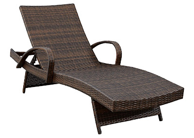 resin wicker chaise