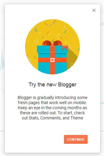 Try the new Blogger!