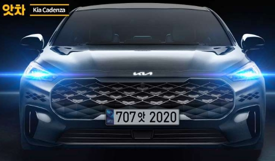 Next-gen Kia Cadenza Big Grill, rendered with a new logo