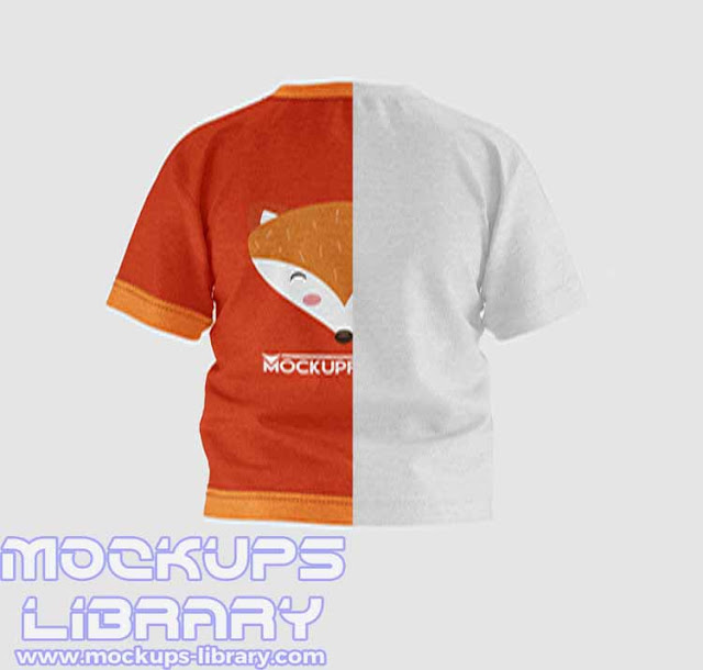 kids t shirt mockup free 3