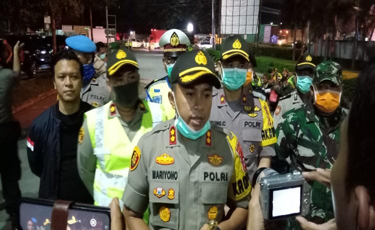 Cegah Covid-19, Jajaran Polres Serang Laksanakan Patroli Skala Besar