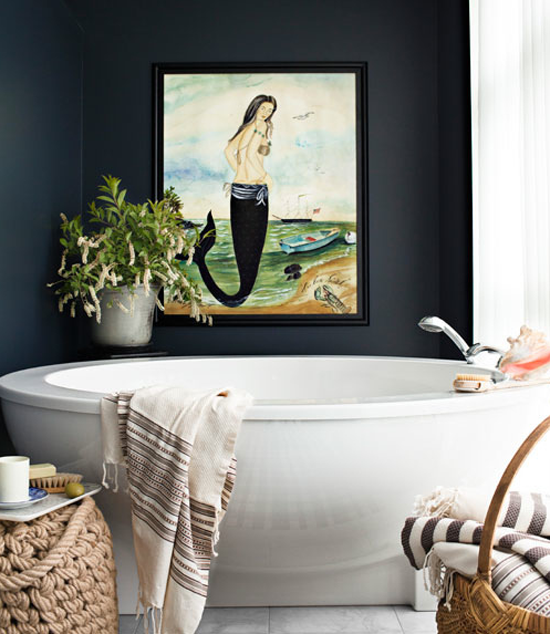 Black interiors inspiration by Max Kim-Bee via @countryliving