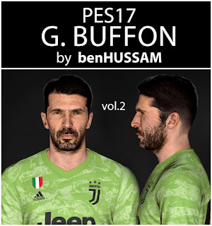 PES 2017 Faces Gianluigi Buffon by BenHussam