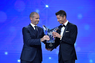 Bayern Munich striker, Robert Lewandowski wins UEFA Men's Player of the Year award