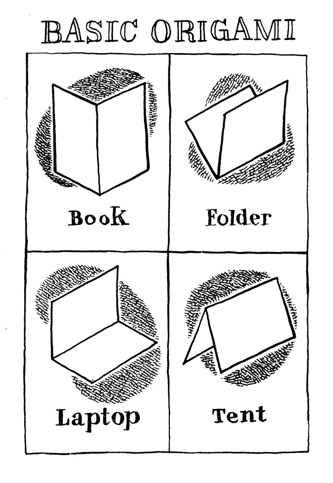 Don Moyer Sketchbook: Basic origami - photo#9