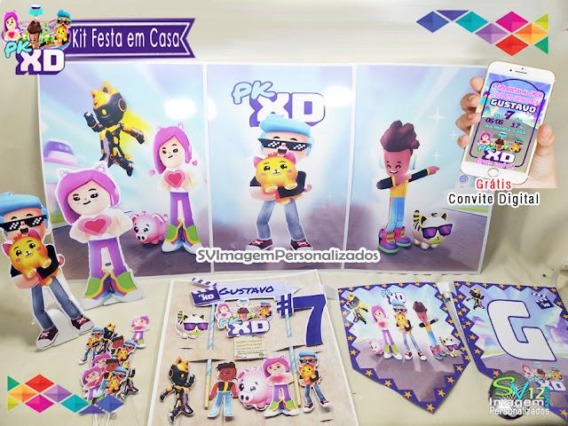 kit festa Pk Xd Game dicas e ideias para decoração de festa personalizados