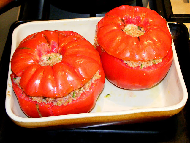Stuffed tomatoes.  Indre et Loire, France. Photographed by Susan Walter. Tour the Loire Valley with a classic car and a private guide.