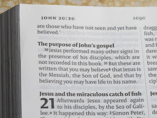 The purpose of John