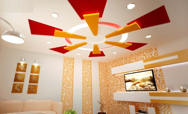 Pop ceiling design photos living hall joy studio design for Wall ceiling pop designs