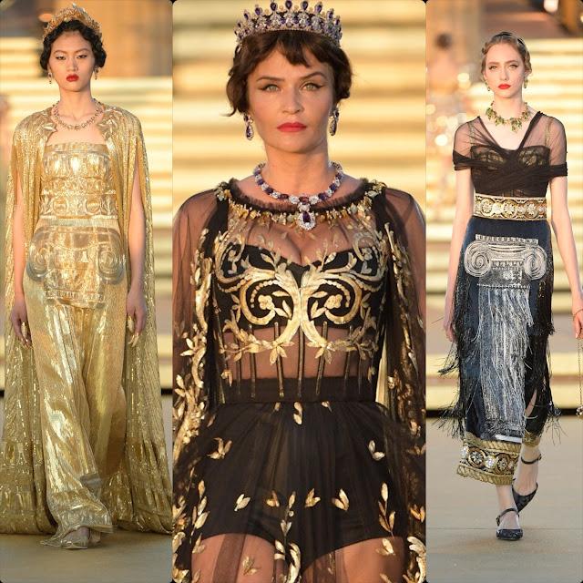 Dolce & Gabbana Alta Moda, Agrigento, Tempio della Concordia Sicilia Autunno Inverno 2019-2020 di RUNWAY MAGAZINE