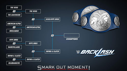 WWE Backlash 2016 SmackDown tag team title tournament finals